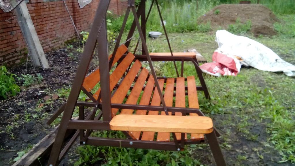 Качели для сада своими руками фото из металла 65